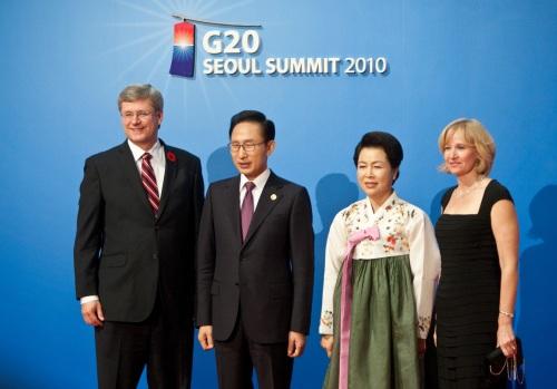 G20 한국 방문한 加하퍼 총리 내외