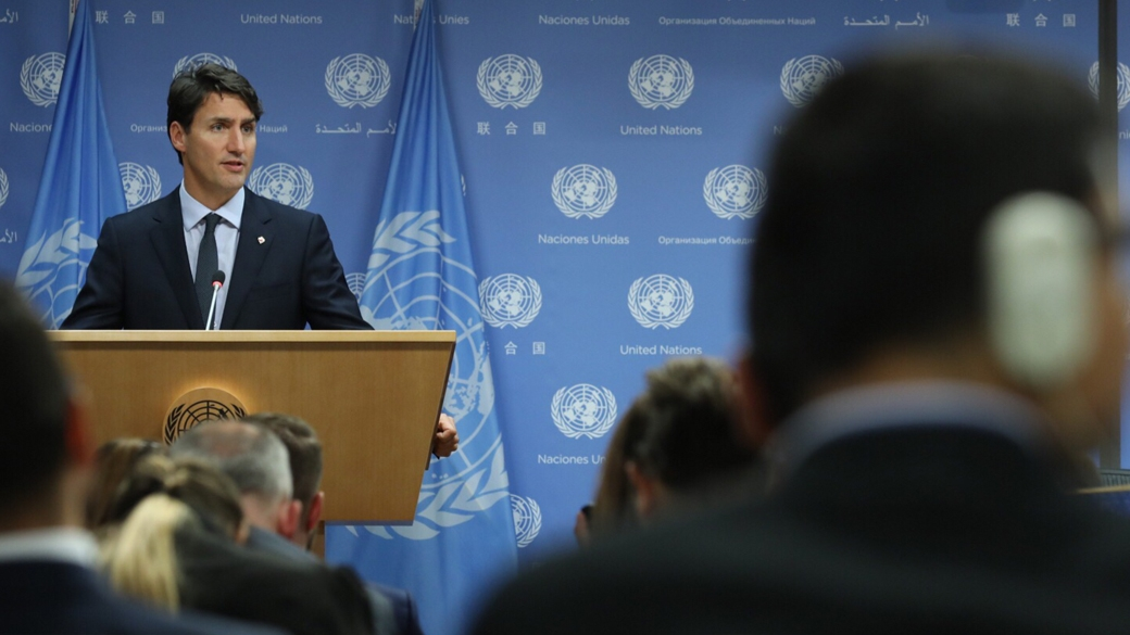 트뤼도 총리 유엔 총회에서 연설