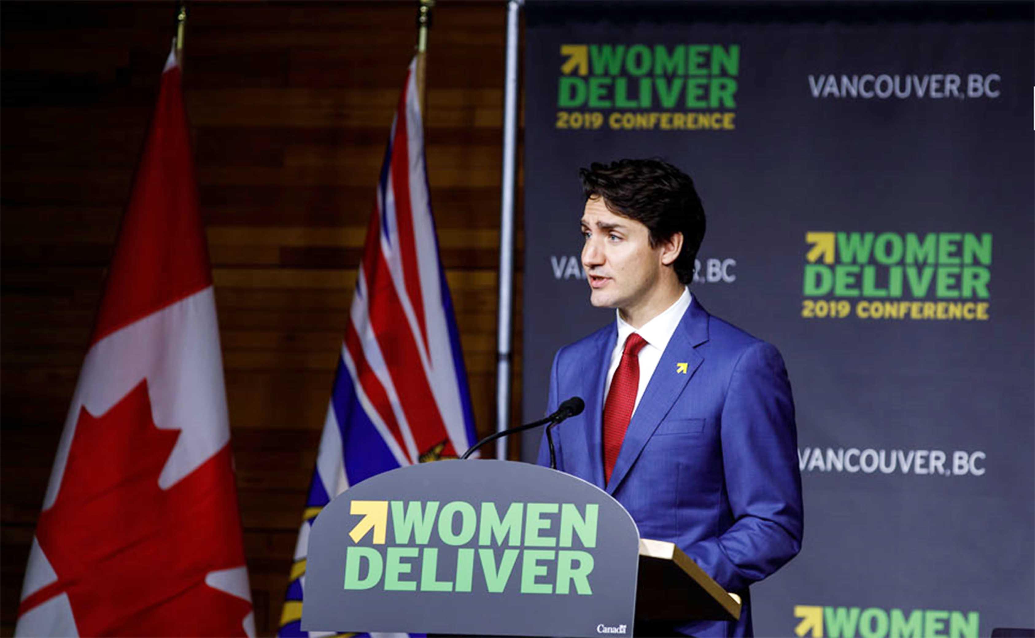 트뤼도 총리 Women Deliver 2019 밴쿠버 개최 발표