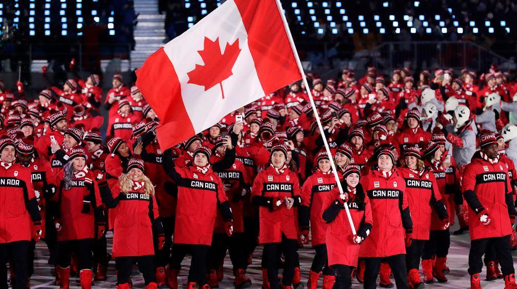 평창올림픽 개회식, 입장하는 캐나다 선수단