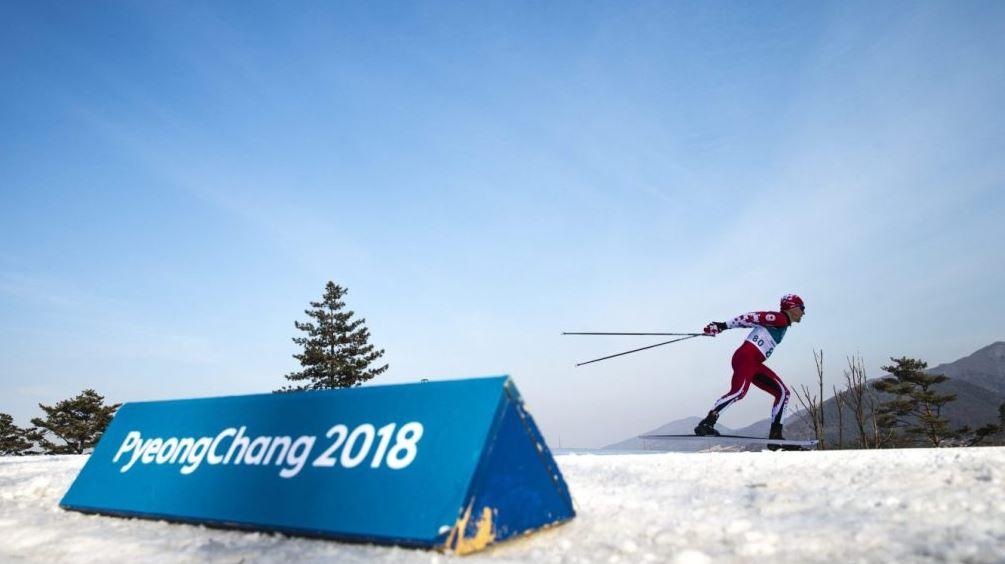 평창동계올림픽 역주중인 캐나다 크로스컨트리 선수