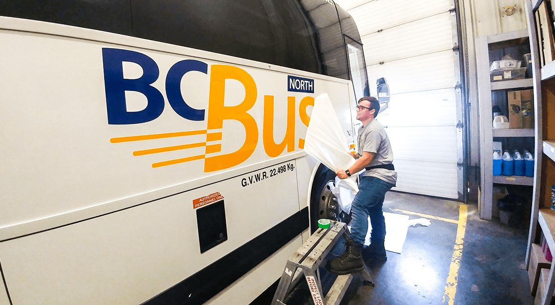 'B.C. Bus North' BC북부노선 운행