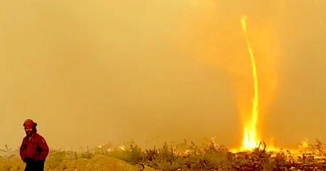 하늘로 치솟는 불기둥…BC주서 파이어 토네이도 목격
