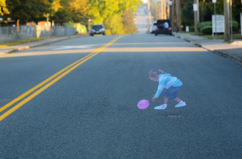 도로 위 아이 조심!