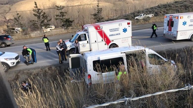 BC주 캐시 크릭 고속도로서 스쿨버스 충돌 사고 발생