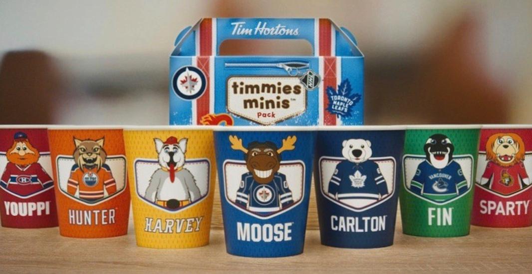 팀호튼, NHL 마스코트 한정판 컵 출시