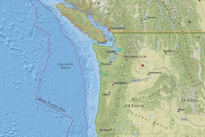 시애틀 규모 4.6 지진 발생··· 밴쿠버까지 여진 잇따라
