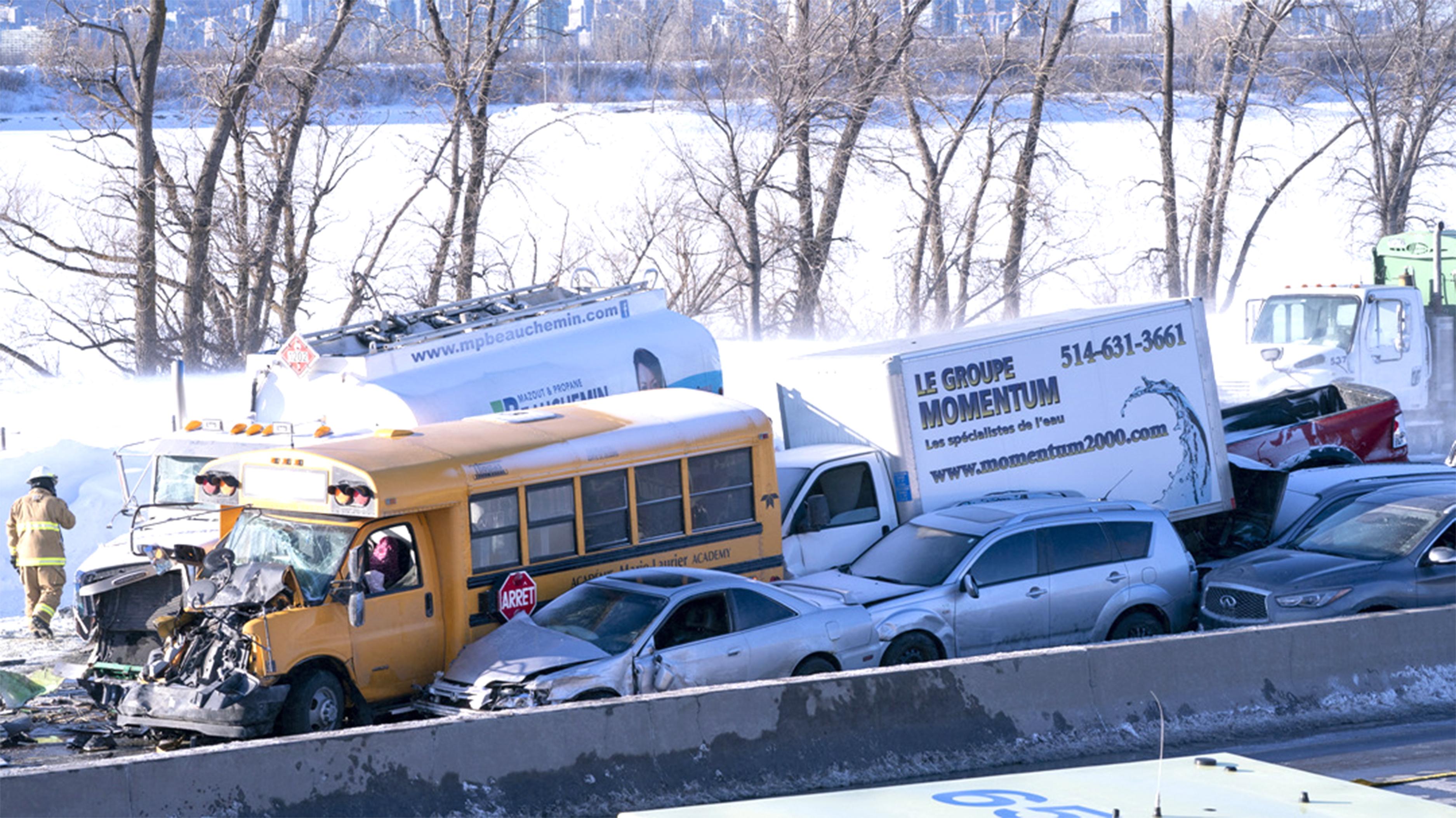 몬트리올 고속도로서 눈폭풍에 200중 추돌 사고··· 2명 사망·90명 부상